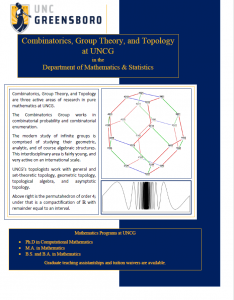 Combinatorics, Group theory, and Topology Brochure