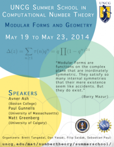 Summer School 2014: Geometry and Modular Forms