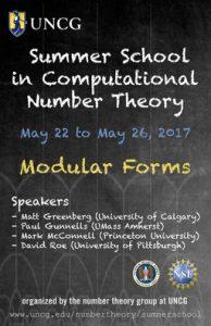 Summer School 2017: Modular Forms