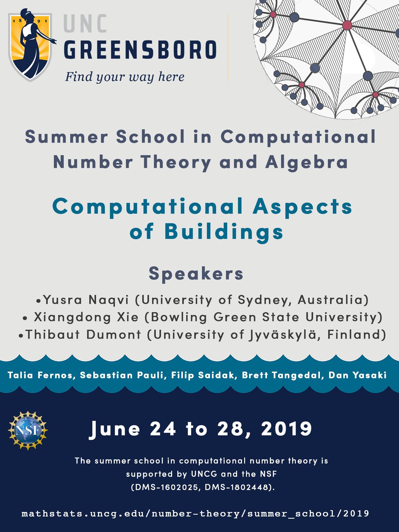 Uncg Spring 2022 Calendar.Summer School 2019 Computational Aspects Of Buildings