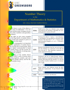 Number Theory Brochure