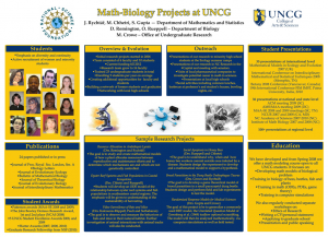 Math-Biology at UNCG