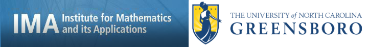 IMA Institute for Mathematics and its Applications - UNCG banner