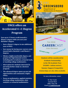 UNCG Accelerated Degree Program